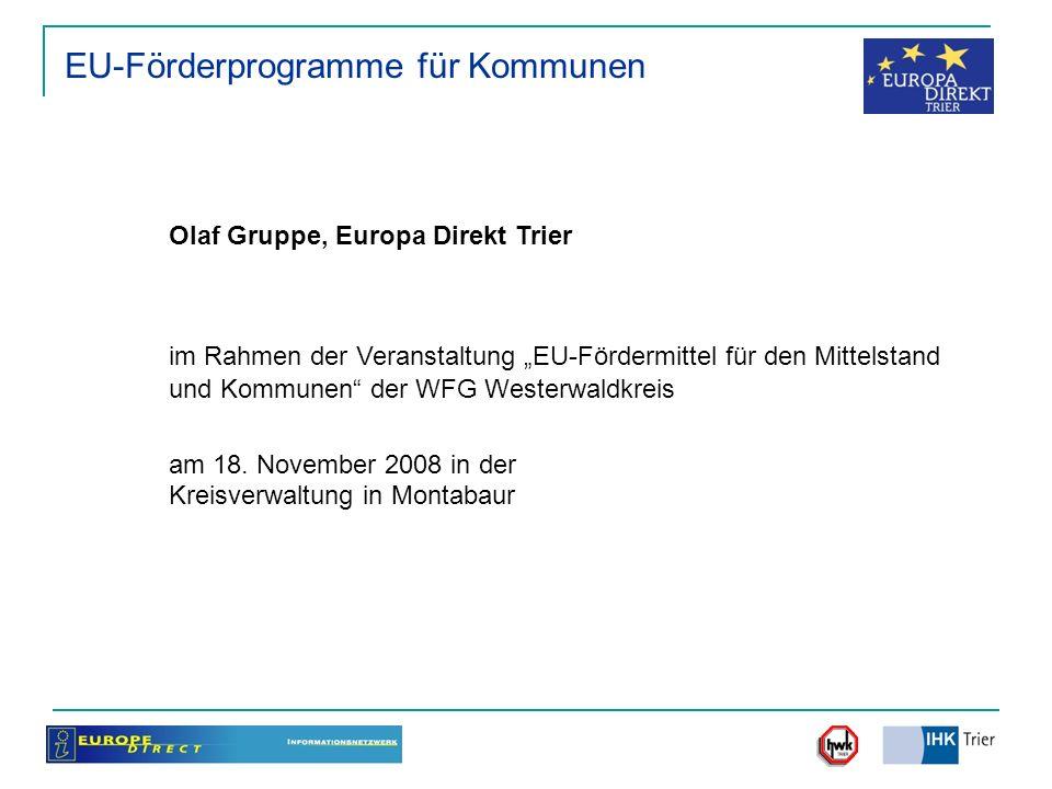 EU-Förderprogramme für Kommunen
