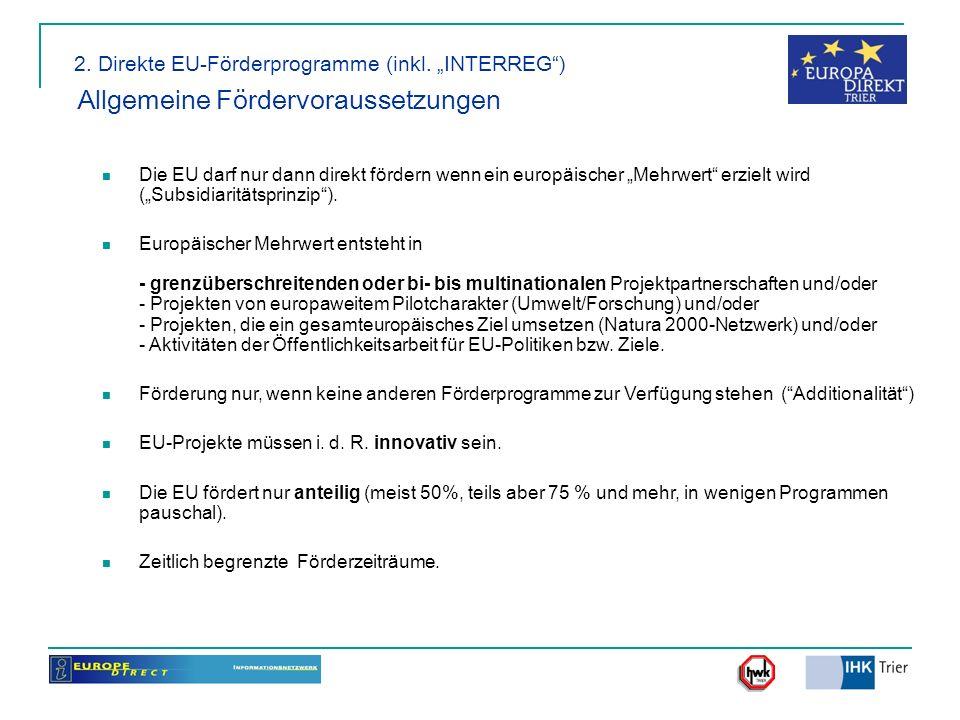 2. Direkte EU-Förderprogramme (inkl