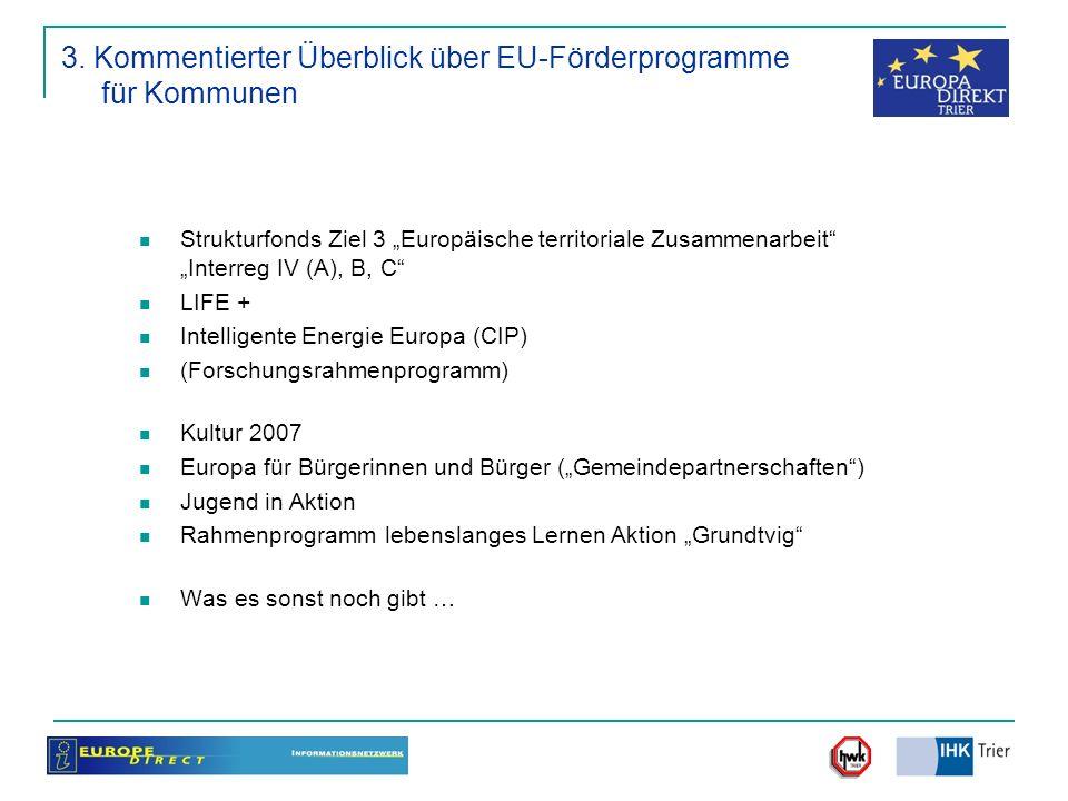 3. Kommentierter Überblick über EU-Förderprogramme für Kommunen