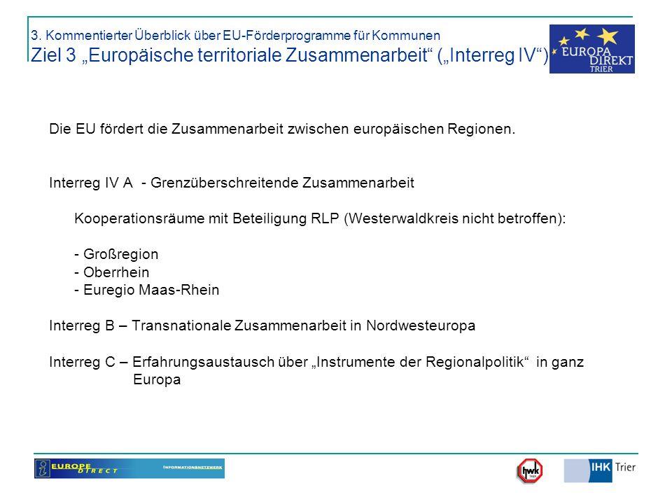 Die EU fördert die Zusammenarbeit zwischen europäischen Regionen.