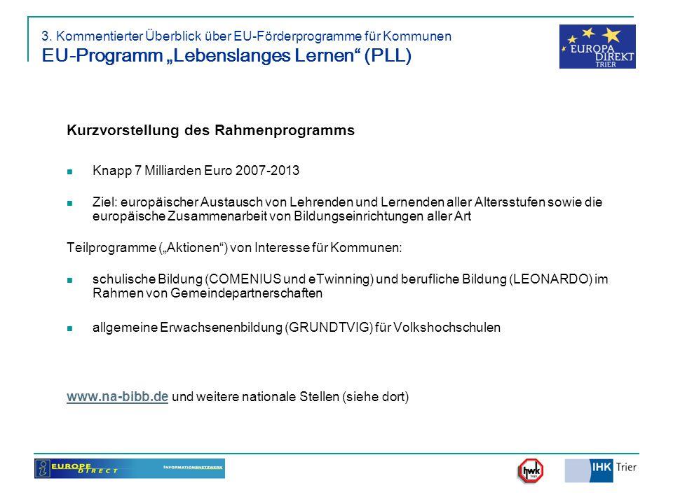 Kurzvorstellung des Rahmenprogramms