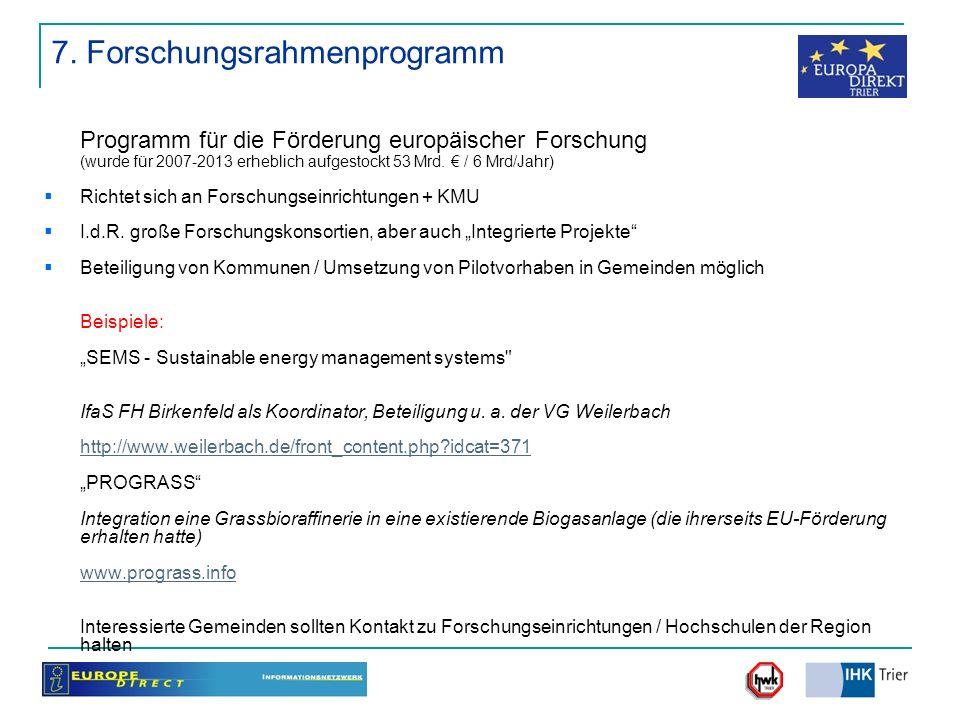7. Forschungsrahmenprogramm