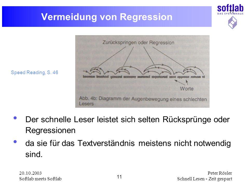 Vermeidung von Regression