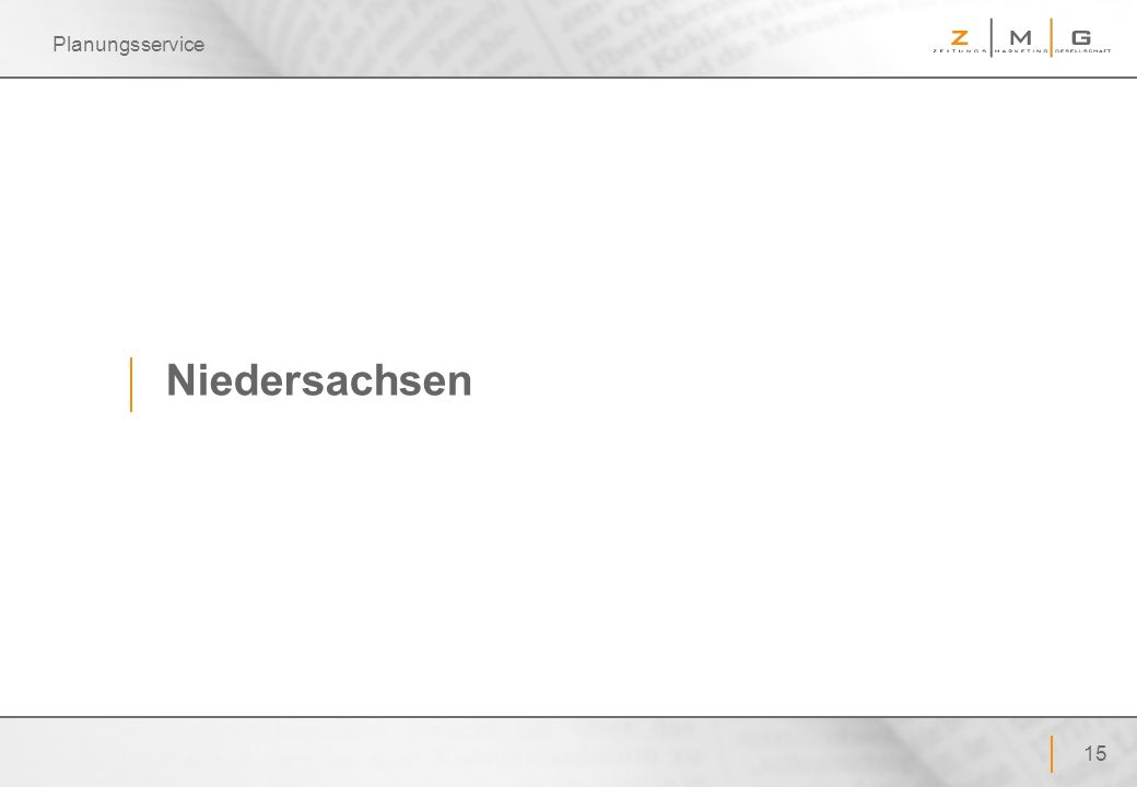 Planungsservice Niedersachsen