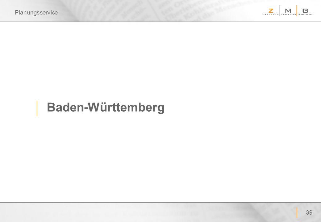 Planungsservice Baden-Württemberg