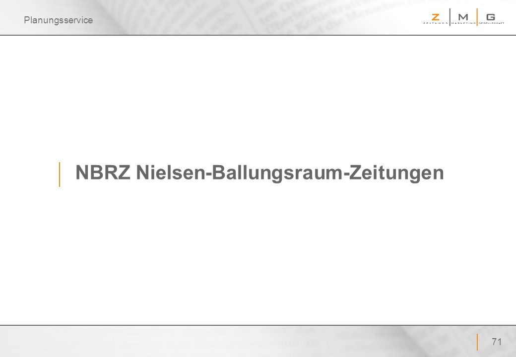 NBRZ Nielsen-Ballungsraum-Zeitungen
