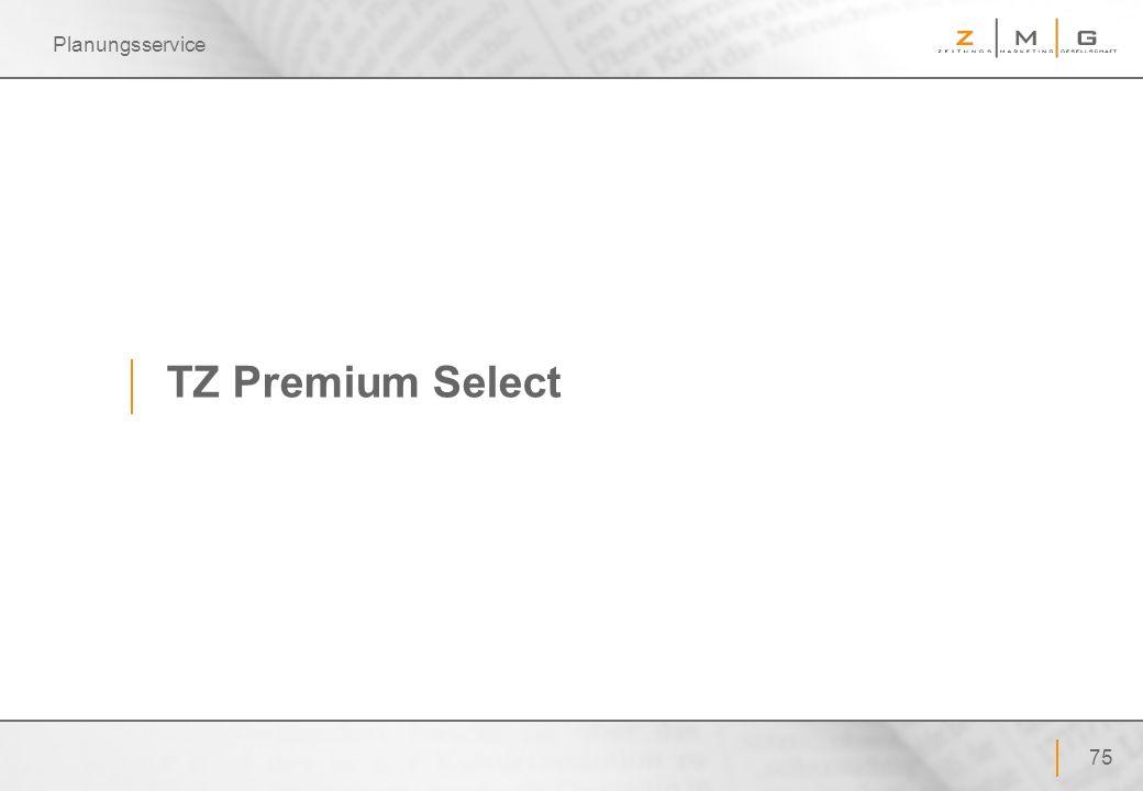 Planungsservice TZ Premium Select