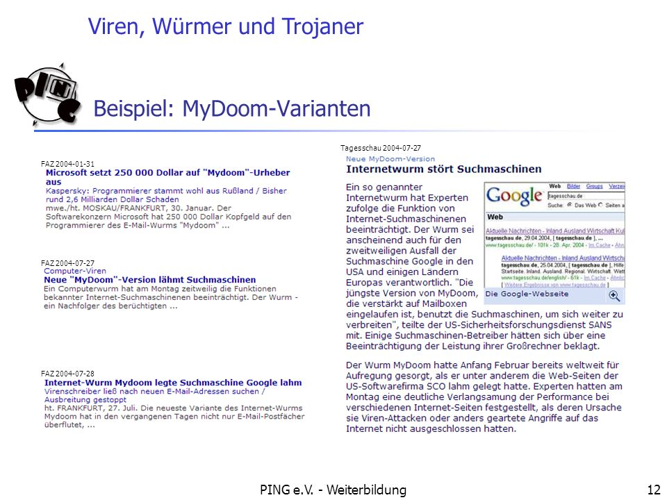 Beispiel: MyDoom-Varianten