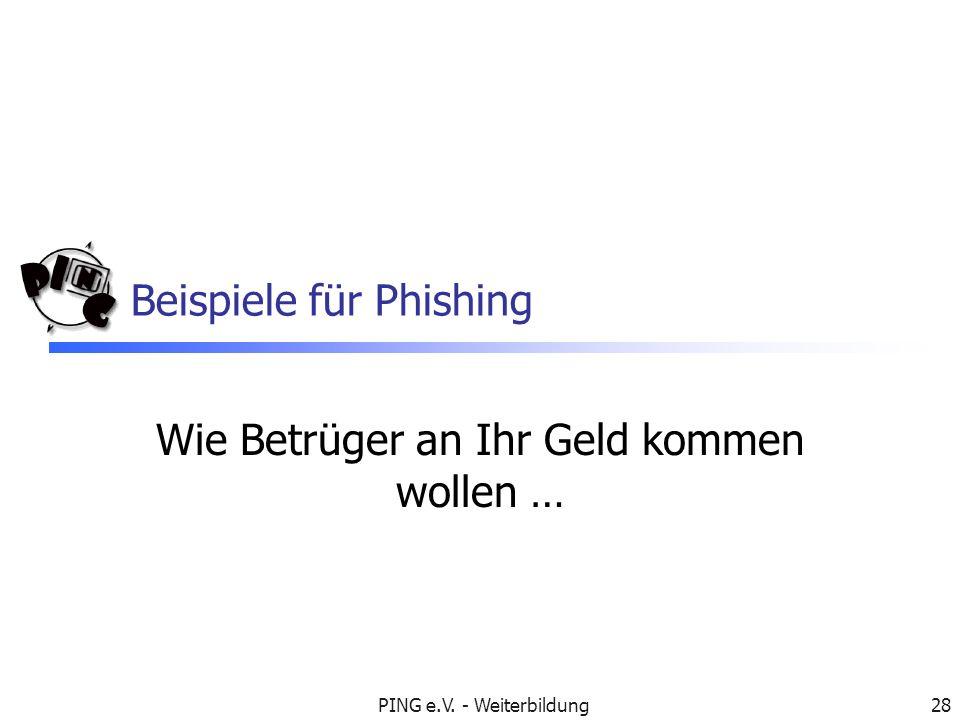 Beispiele für Phishing