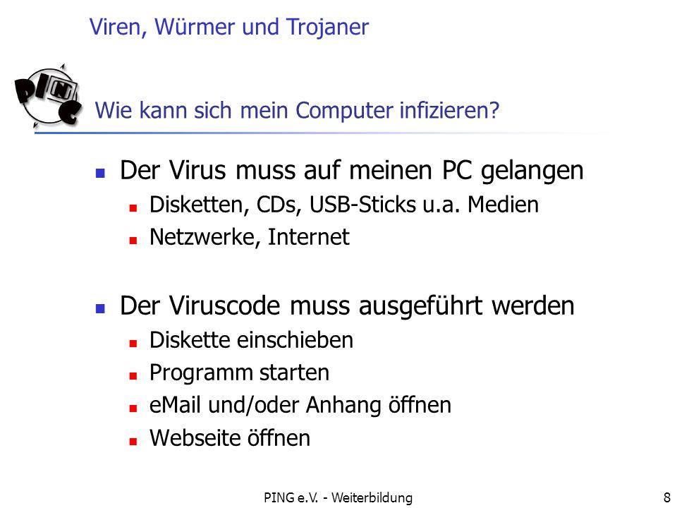 Wie kann sich mein Computer infizieren