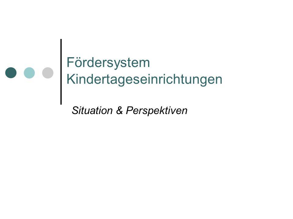 Fördersystem Kindertageseinrichtungen