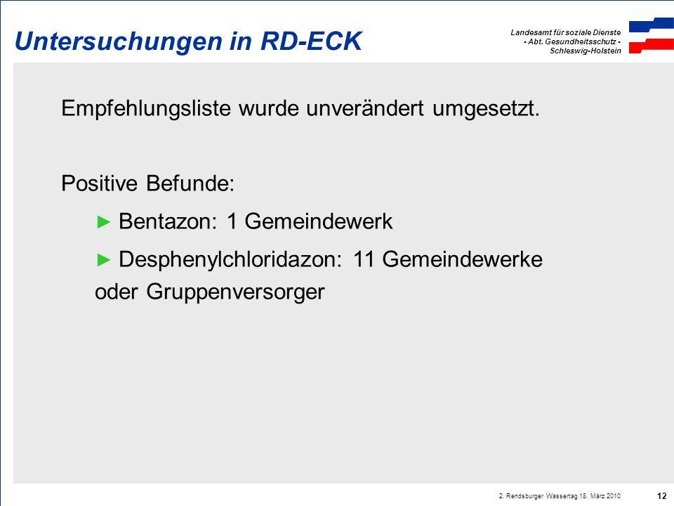 Untersuchungen in RD-ECK