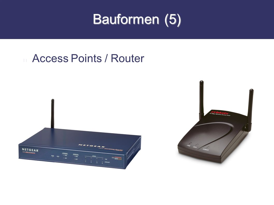 Bauformen (5) Access Points / Router