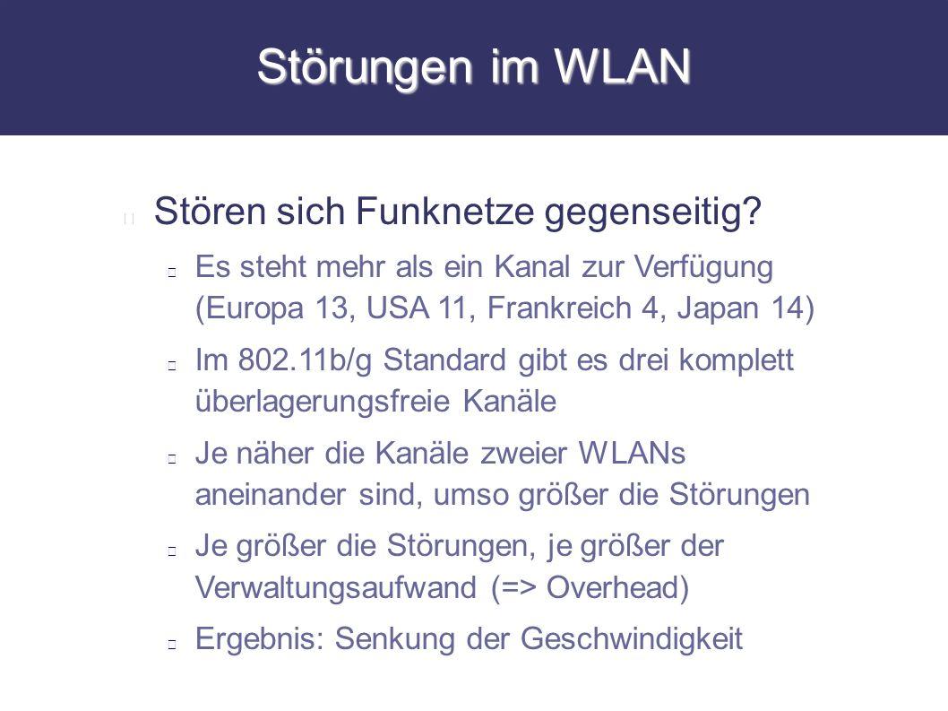 Störungen im WLAN Stören sich Funknetze gegenseitig