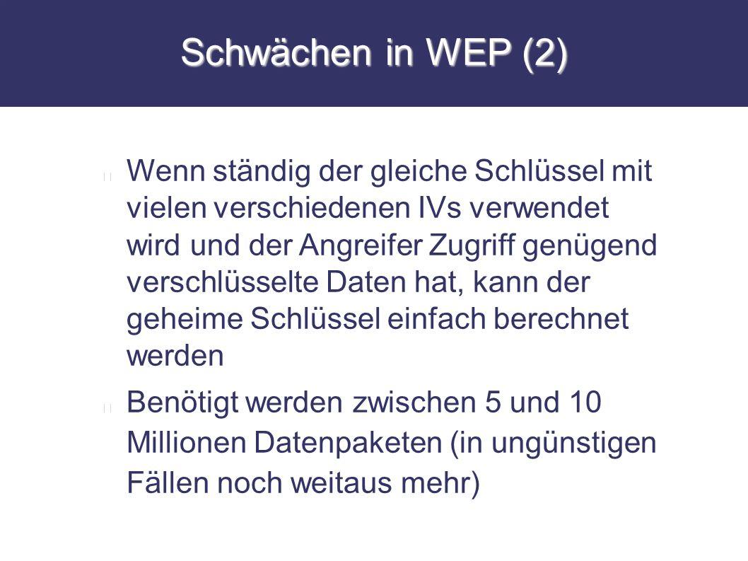 Schwächen in WEP (2)