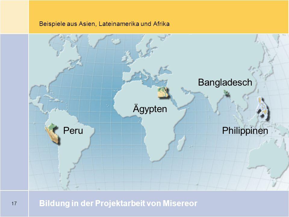 Beispiele aus Asien, Lateinamerika und Afrika