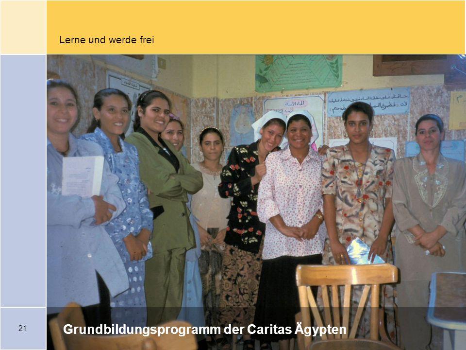 Grundbildungsprogramm der Caritas Ägypten