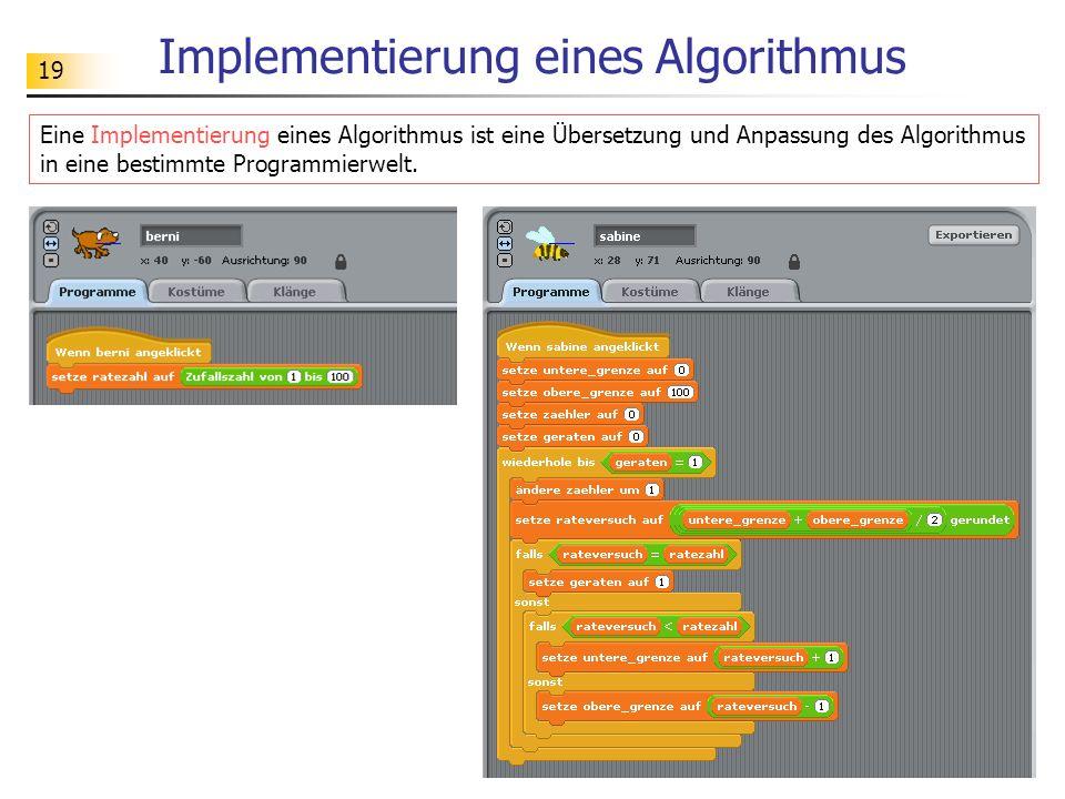 Implementierung eines Algorithmus