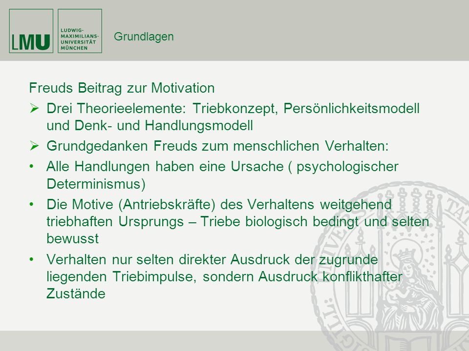 Freuds Beitrag zur Motivation
