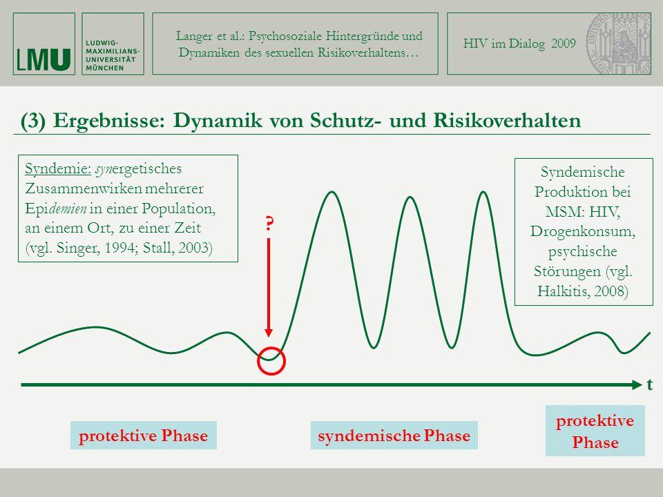 (3) Ergebnisse: Dynamik von Schutz- und Risikoverhalten