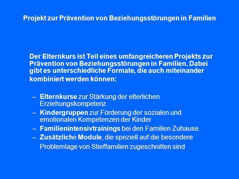 Projekt zur Prävention von Beziehungsstörungen in Familien