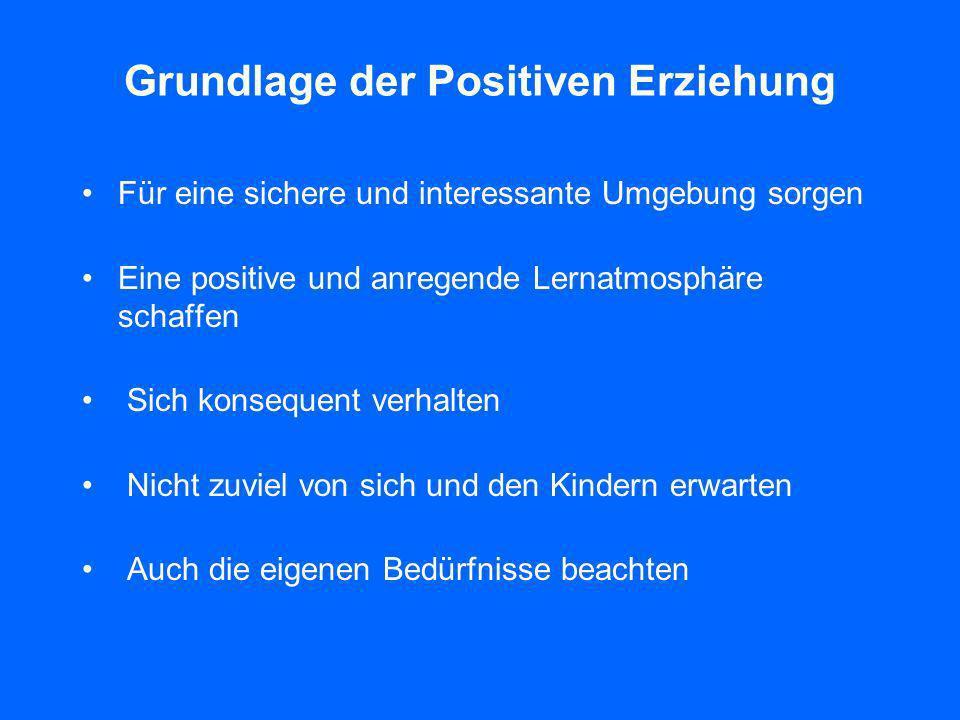 Grundlage der Positiven Erziehung