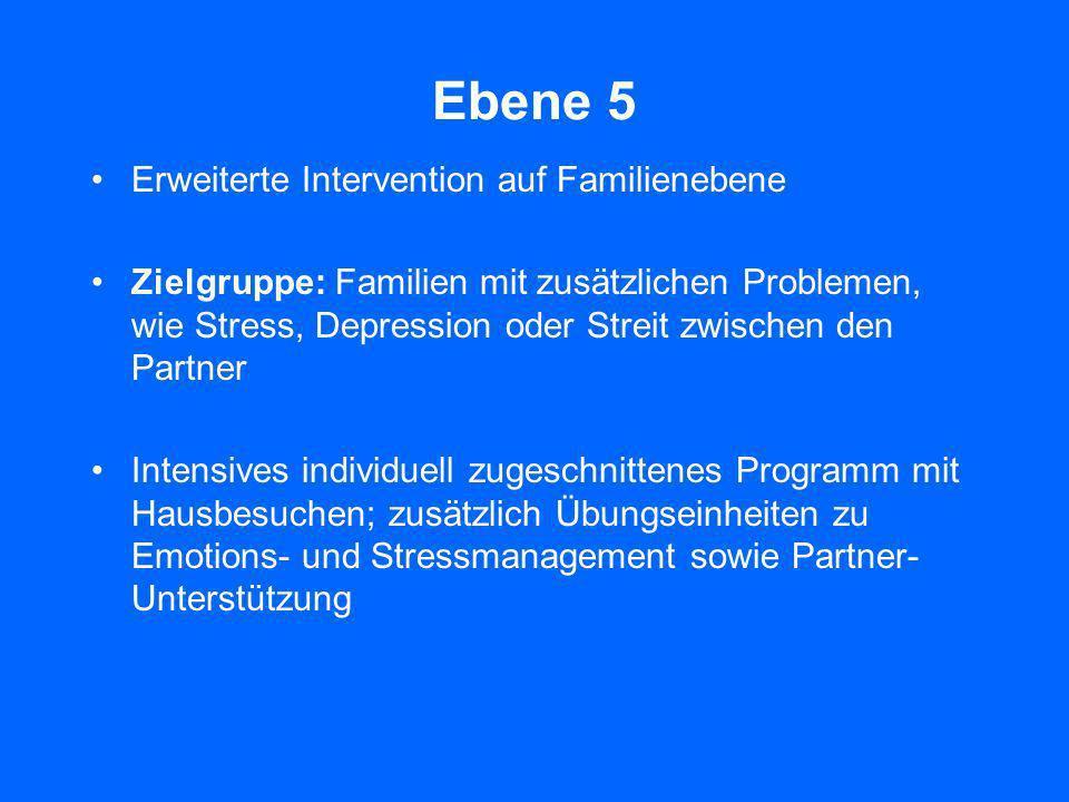 Ebene 5 Erweiterte Intervention auf Familienebene