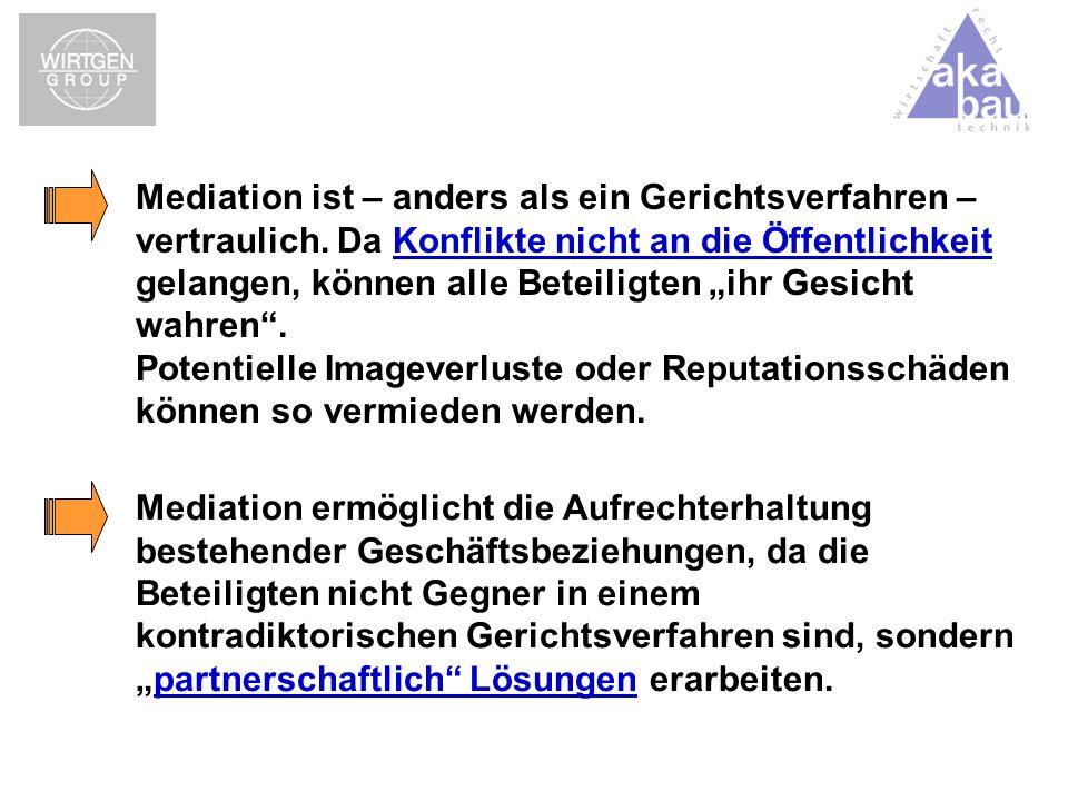Mediation ist – anders als ein Gerichtsverfahren – vertraulich