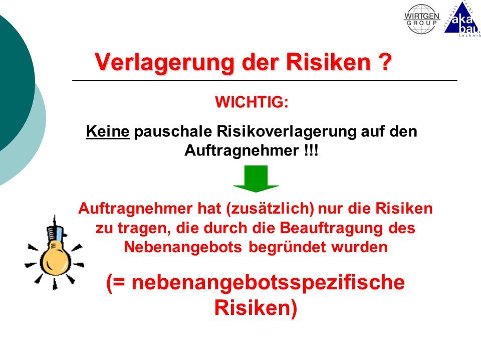 Verlagerung der Risiken