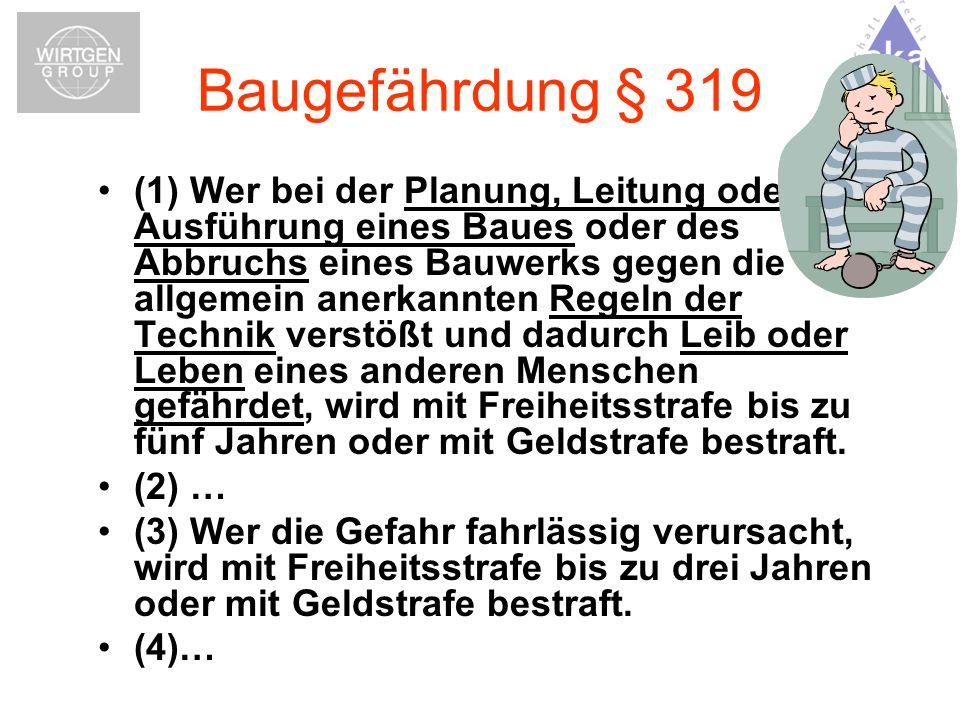 Baugefährdung § 319
