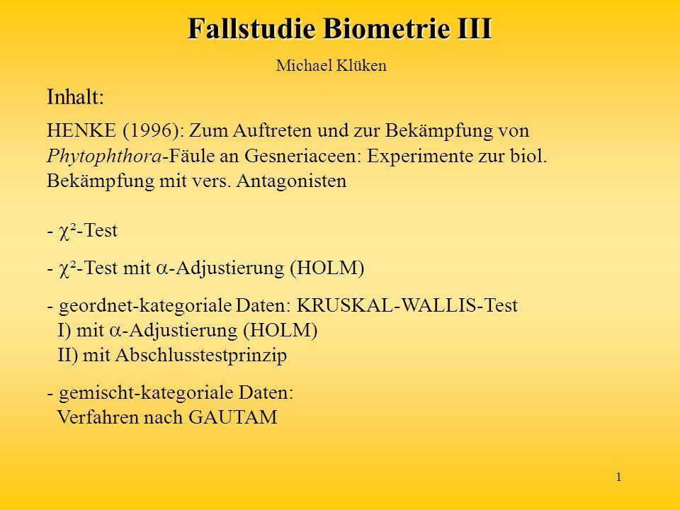 Fallstudie Biometrie III