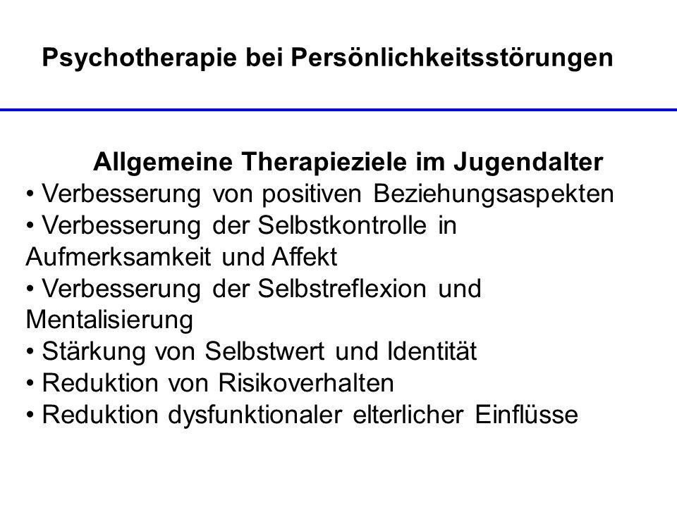 Psychotherapie bei Persönlichkeitsstörungen
