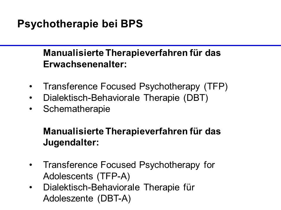 Psychotherapie bei BPS
