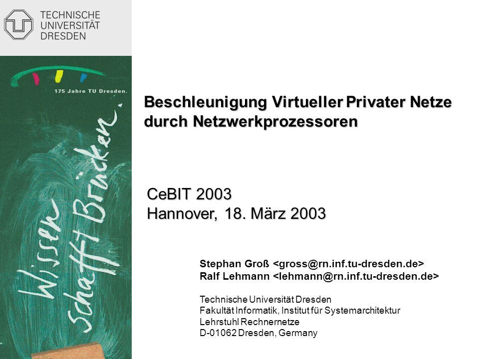 Beschleunigung Virtueller Privater Netze durch Netzwerkprozessoren