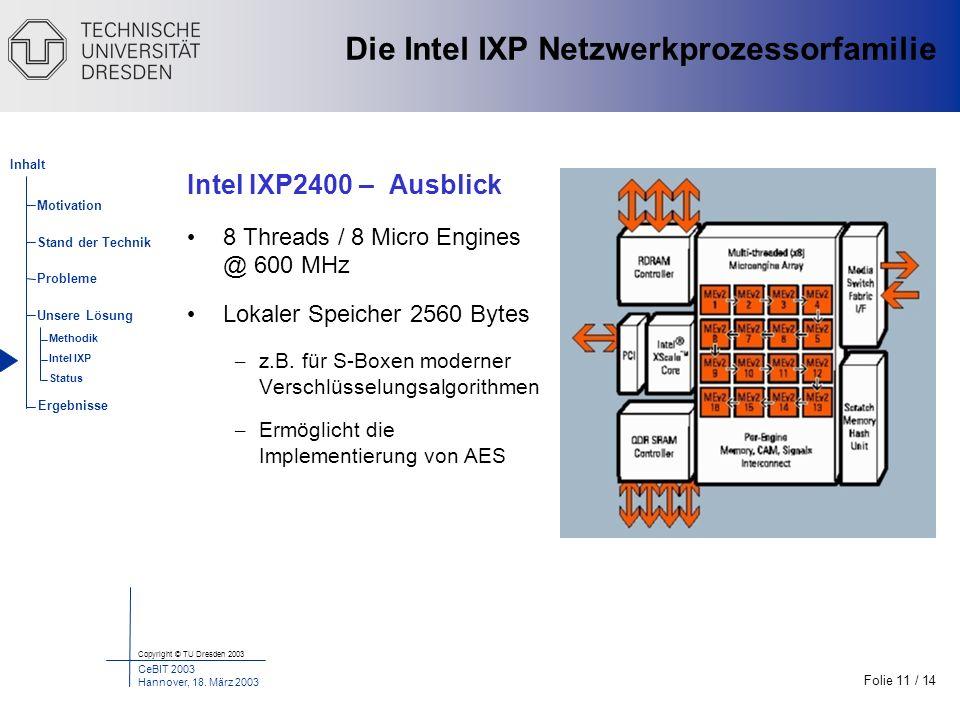 Die Intel IXP Netzwerkprozessorfamilie