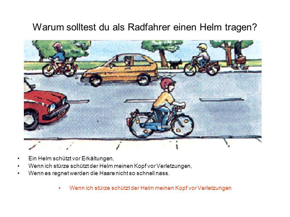 Warum solltest du als Radfahrer einen Helm tragen