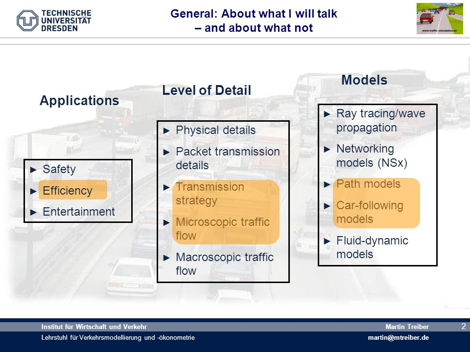 General: About what I will talk – and about what not