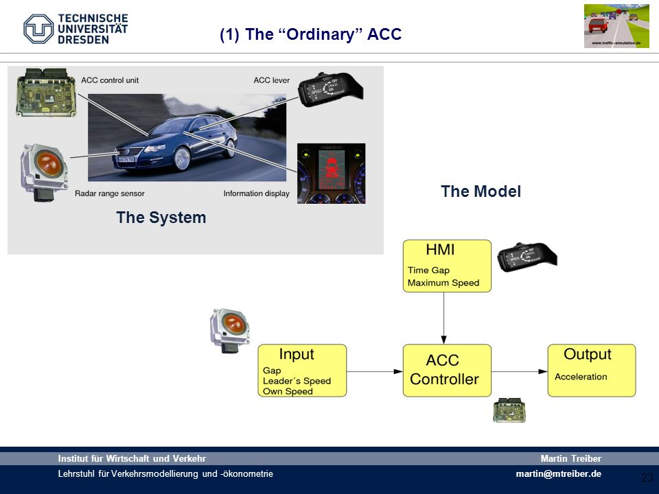 (1) The Ordinary ACC The Model The System World 2-3 fahrzeuge 23 23