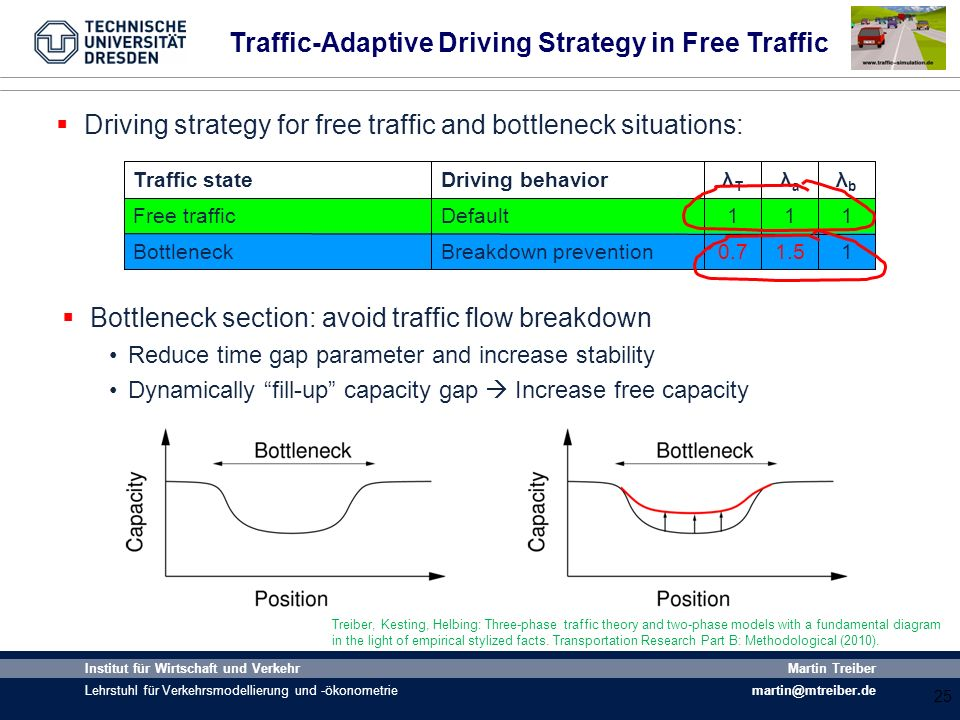 Traffic-Adaptive Driving Strategy in Free Traffic