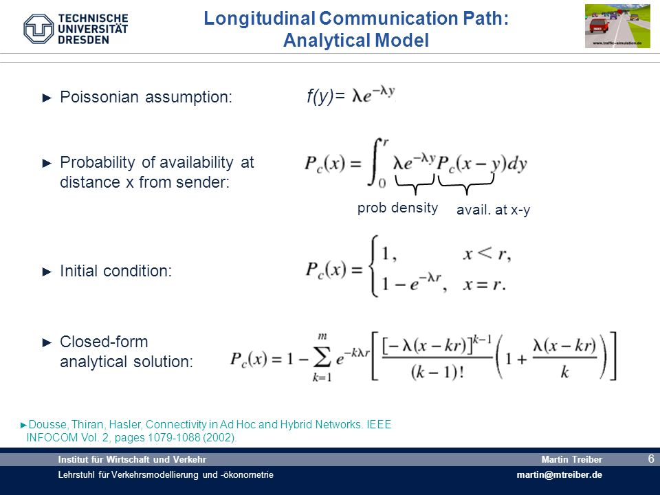 Longitudinal Communication Path: Analytical Model