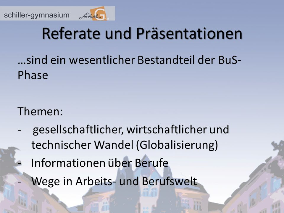 Referate und Präsentationen