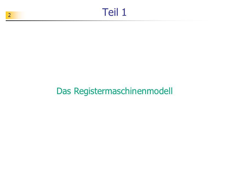 Das Registermaschinenmodell
