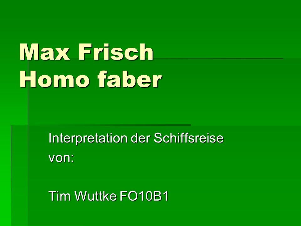 Interpretation der Schiffsreise von: Tim Wuttke FO10B1