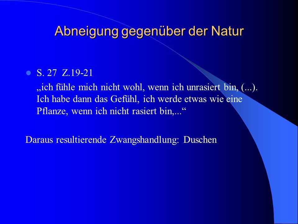 Abneigung gegenüber der Natur