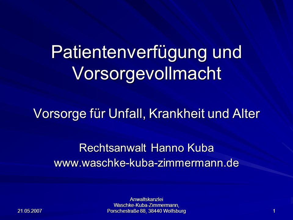 Rechtsanwalt Hanno Kuba www.waschke-kuba-zimmermann.de