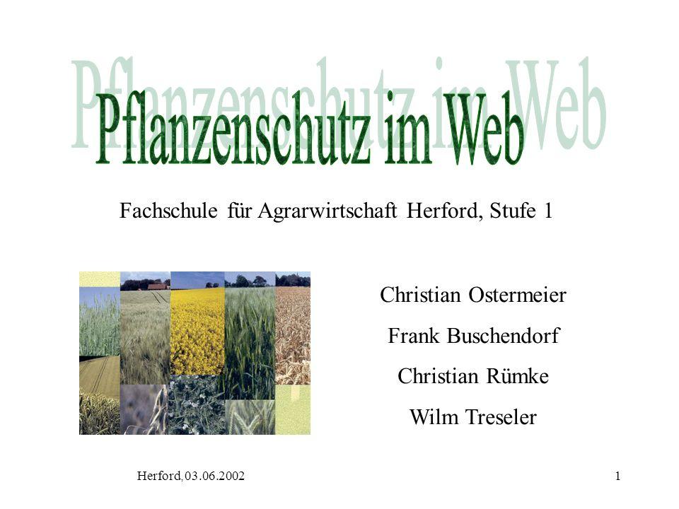 Fachschule für Agrarwirtschaft Herford, Stufe 1