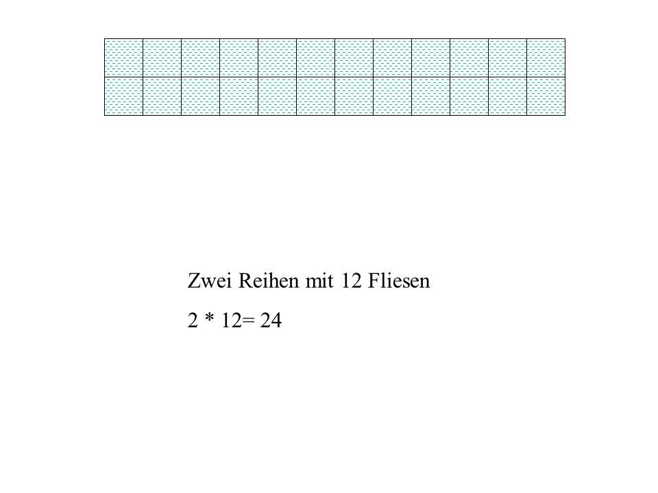 Zwei Reihen mit 12 Fliesen