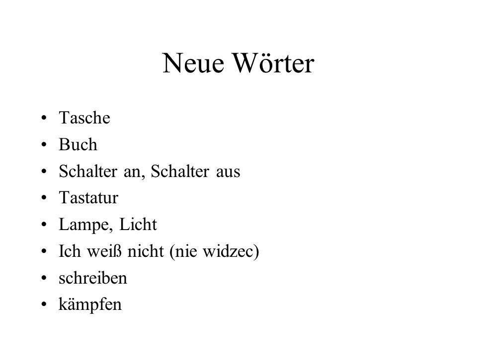 Neue Wörter Tasche Buch Schalter an, Schalter aus Tastatur