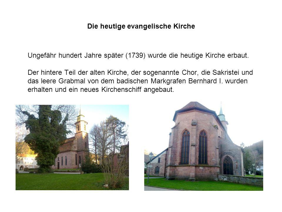 Die heutige evangelische Kirche