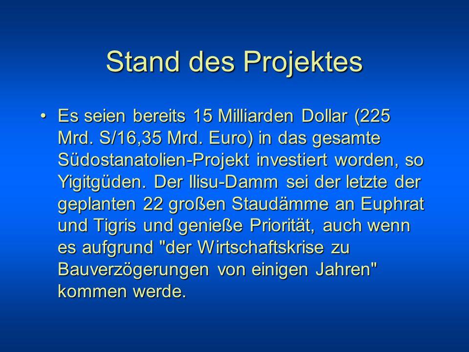Stand des Projektes